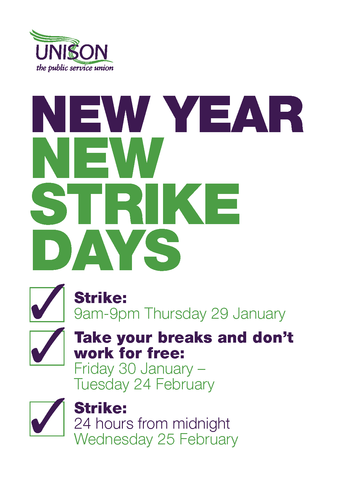 Unison strike bulletin Jan 2015 Page 2